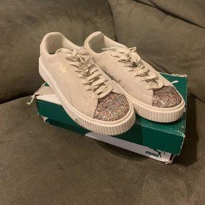Puma sneakers w/ glitter